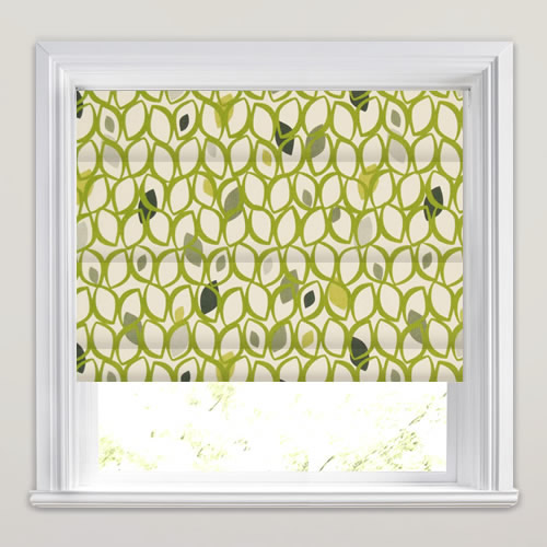 Lime Green Roman Blinds Funky Amp Contemporary Leaf Patterned