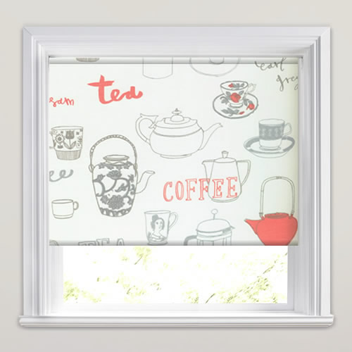 Tea And Coffee Poppy Roller Blind
