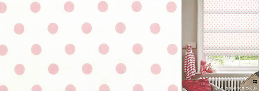 Dotty Rose Roman Blind