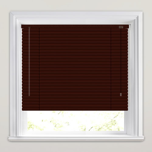 25mm Walnut Venetian Blind