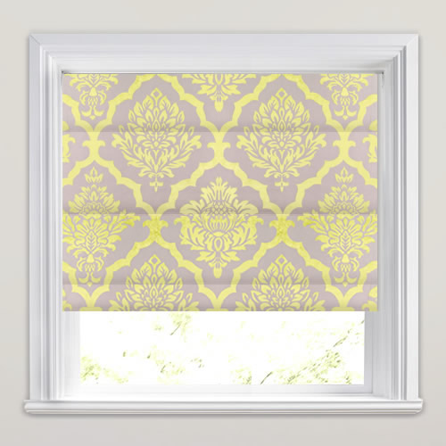 Vibrant Golden Yellow Amp Beige Velvet Damask Patterned