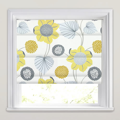 Yellow Gold Grey Amp White Large Modern Flowers Amp Leaves