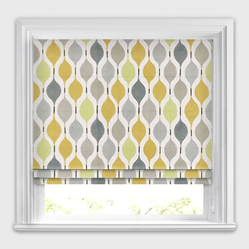Golden Yellow Lime Grey Stone Amp White Retro Patterned