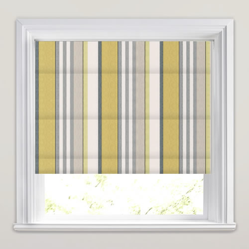 Grey And Lime Green Striped Room