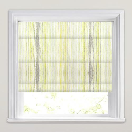Yellow Grey Amp White Stylish Modern Stripy Roman Blinds