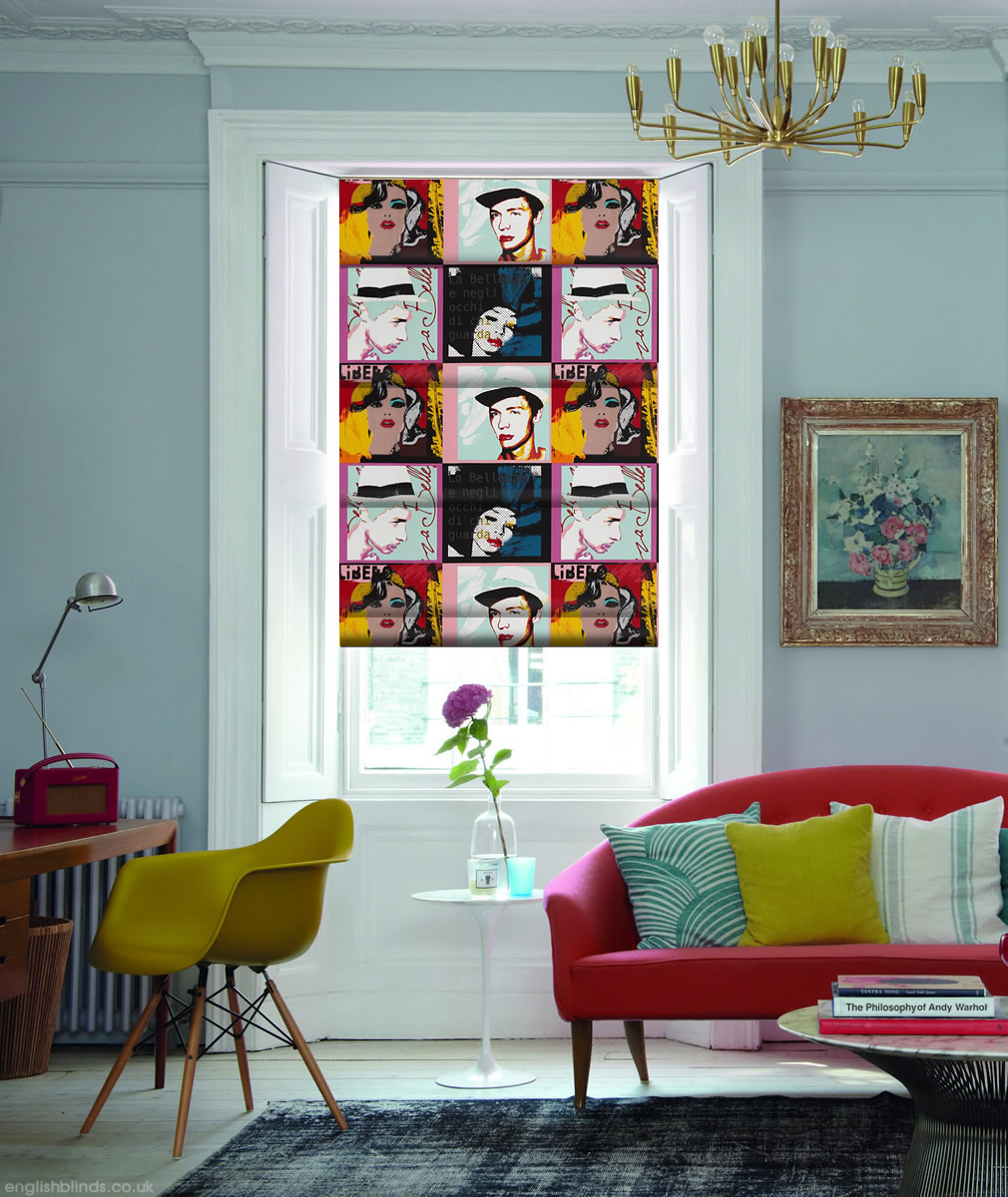Luxury Pop Art Roman Blinds Made To Measure By English Blinds